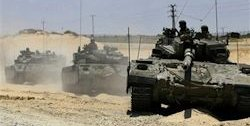 Israeli tanks invade Gaza.