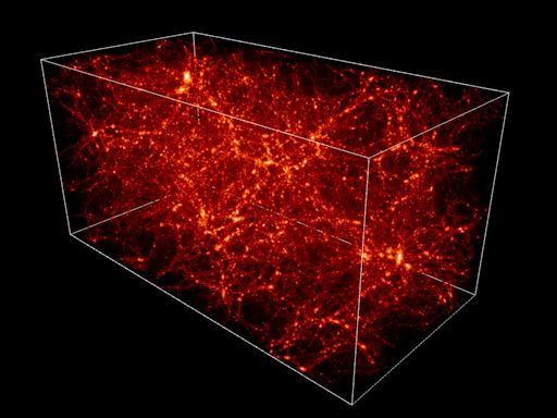 Millions of galaxies mapped in their relative positions to each other show the large-scale structure of the Universe.