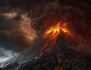Mount Doom from Peter Jackson's The Lord of the Rings film trilogy