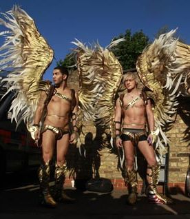 Gaydar's Warrior Angels Protest Pope Benedict XVI's Visit St. Mary's University in Twickenham, UK (Sept 9, 2010)