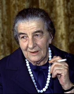 Golda Meir (1898 - 1978). Modern Israel's fourth prime minister.