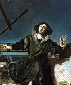 Nicolaus Copernicus 1473 – 1543. He wrote 'On the Revolutions of the Heavenly Bodies' a (heliocentric) treatment of the solar system. The idea is considered so important that it is often referred to as the 'Copernican Revolution.'