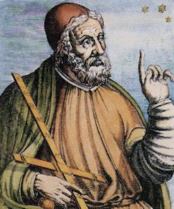 Claudius Ptolemy c. 90 – 168. The most influential astronomer of ancient times. His (geocentric) idea that the Earth was the center of the Universe prevailed for 1400 years. His writings include names of 48 constellations still in use today.