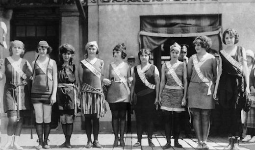 The First Miss America pageant in 1921.