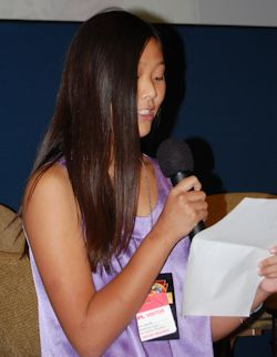 Clara Ma won the essay contest to name the rover 'Curiosity'. Photo by Brad Snowder