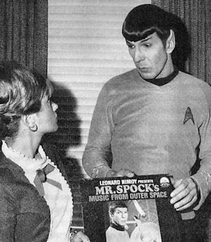 Spock encouraging young people to buy his primitive audio recording in 1967.
