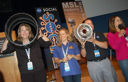 NASA JPL Social Media Specialists: Stephanie Smith, Courtney O'Conner, Jason Townsend, Veronica McGregor. Photo by Brad Snowder