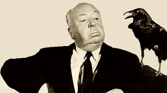 Alfred Hitchcock, director of The Birds (1963).