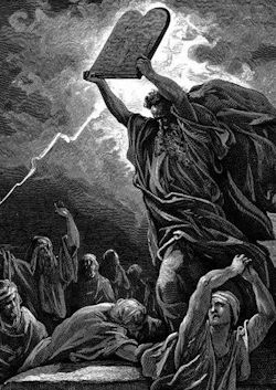Moses Smashing the Tables of the Law - Gustave Doré (1832–1883)