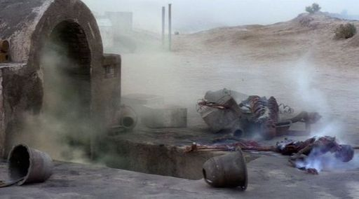 Luke Skywalker discovers Uncle Owen and Aunt Beru. Star Wars: Episode IV - A New Hope (1977)