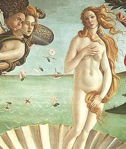 Birth of Venus, Sandro Botticelli 1485.